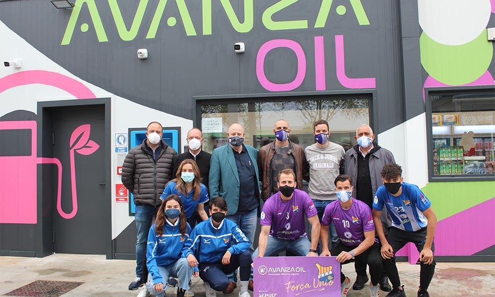 La UE Figueres recolza la inauguració de la nova benzinera Avanza Oil